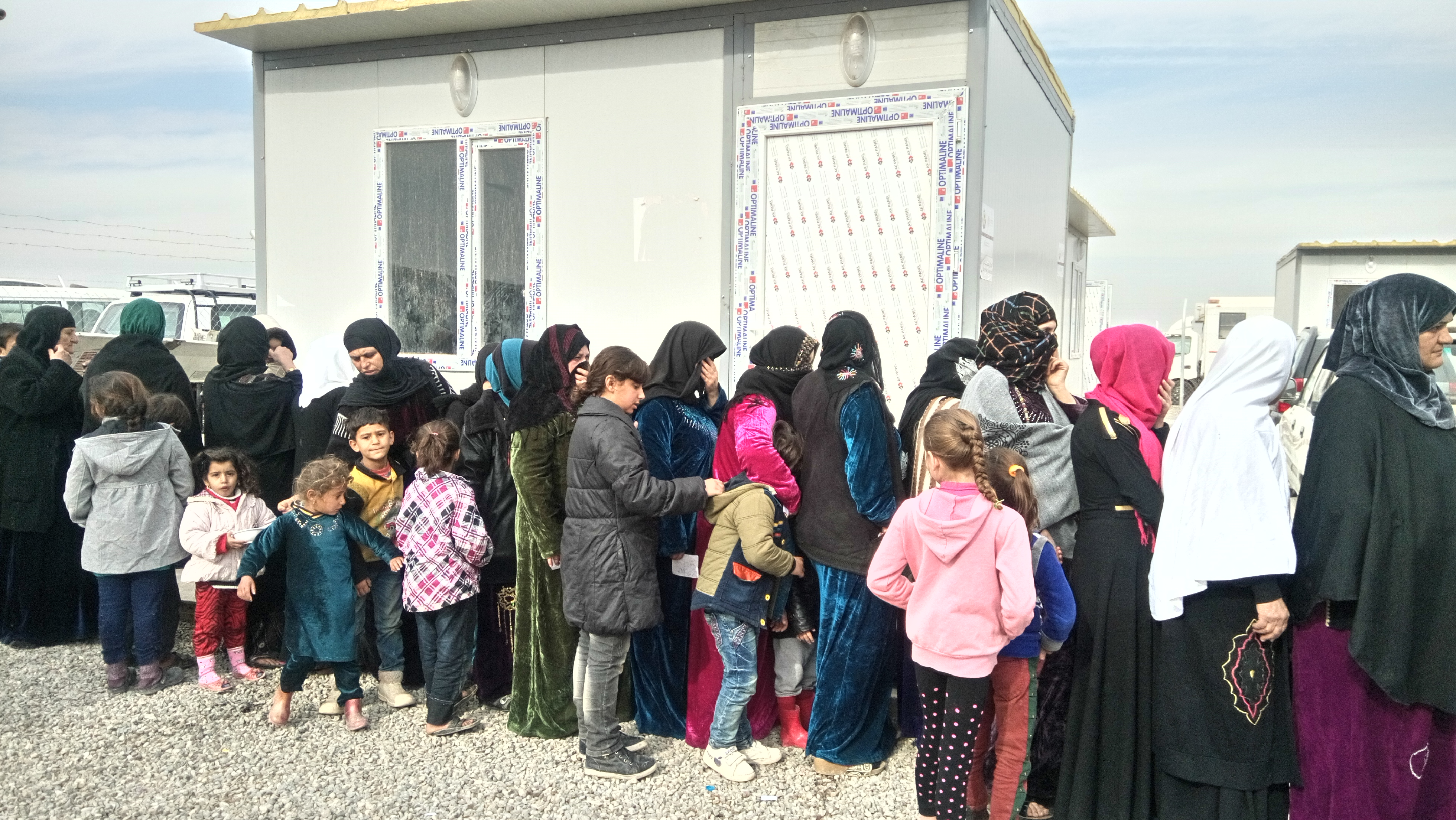 Dr. Bernice Rumala assisted women and girls in a camp for internally displaced persons near eastern Mosul in Iraq