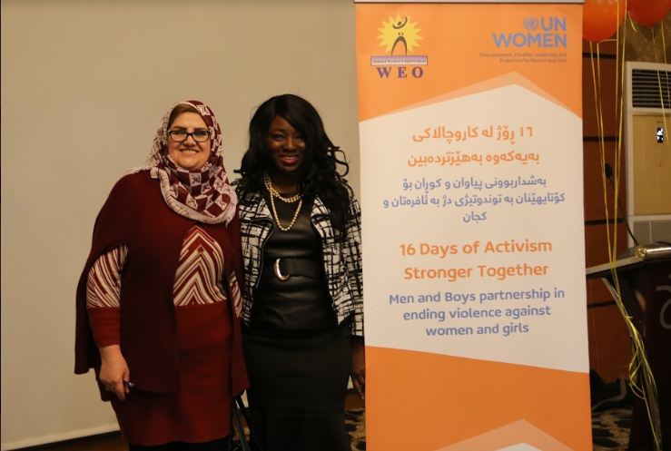 In Iraq, Dr. Bernice Rumala co-organized and spoke at conference on ending violence against women and girls as part of the UN 16 Days of Activism agenda.